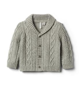Baby Cable Knit Shawl Cardigan