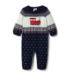 Baby Train Fair Isle Sweater 1-Piece