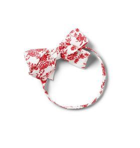 Baby Toile Bow Soft Headband