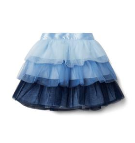 Ombre Tulle Tiered Skirt