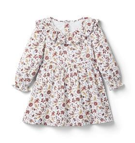 Floral Ruffle Collar Dress