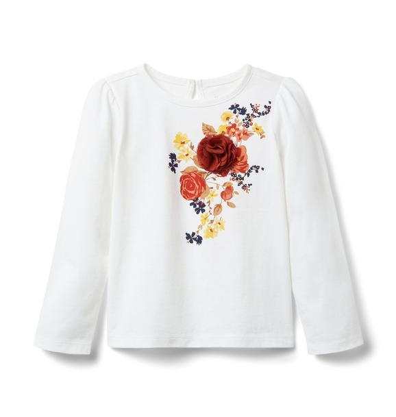 Janie and Jack Floral Applique Tee