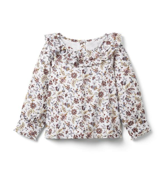 Janie and Jack Floral Ruffle Top