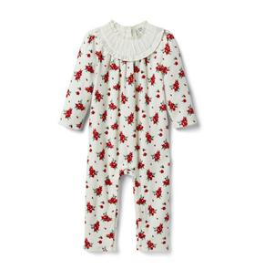Baby Floral Velour 1-Piece