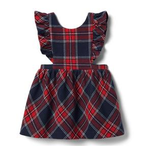 Baby Plaid Ruffle Jumper Dress