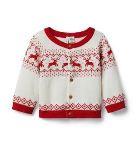 Baby Reindeer Fair Isle Cardigan