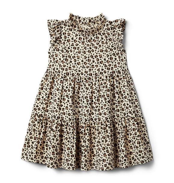 Janie and Jack Leopard Ruffle Dress
