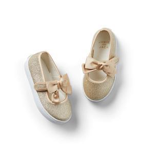 Glitter Bow Sneaker