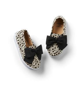 Leopard Bow Slip-On Sneaker