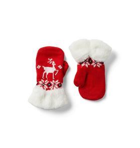 Fair Isle Reindeer Mitten