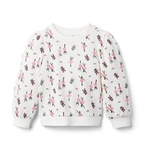 Ballerina Print Sweatshirt