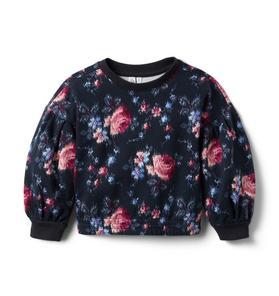 Brown Girls Do Ballet Floral Sweatshirt