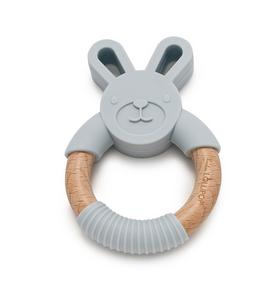 Loulou Lollipop Grey Bunny Silicone Teether