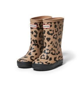 Hunter Original Kids First Classic Leopard Rain Boot