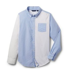 Colorblocked Oxford Shirt
