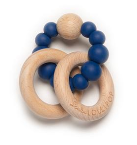 Loulou Lollipop Navy Beaded Silicone Teether