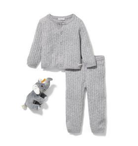 Baby 3-Piece Grey Cashmere Gift Box