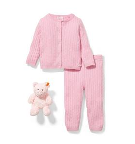 Baby 3-Piece Pink Cashmere Gift Box