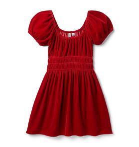 Velvet Puff Sleeve Dress