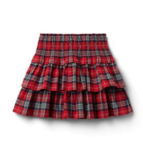 Plaid Tiered Skirt