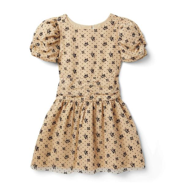 Janie and Jack Floral Dot Mesh Dress