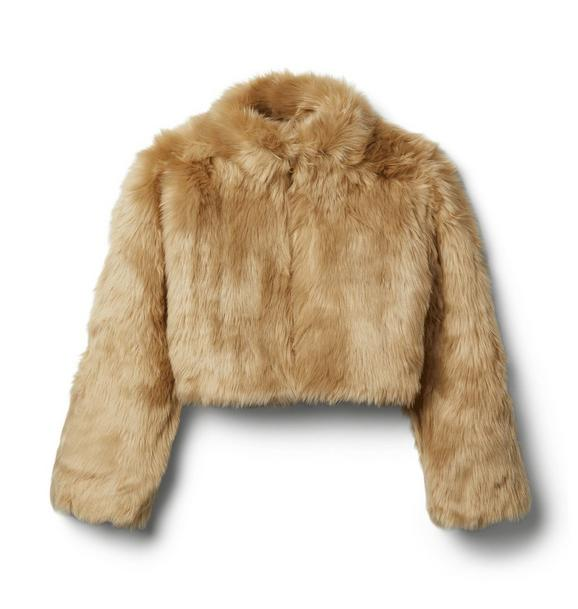 Janie and Jack Faux Fur Bomber Jacket