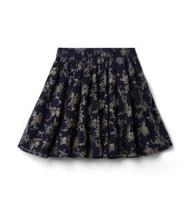 Glitter Floral Skirt
