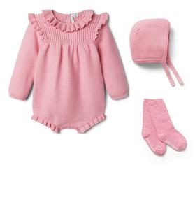 Baby 3-Piece Pink Sweater Gift Box