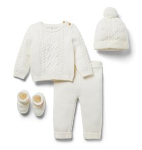 Baby 4-Piece Cable Knit Gift Box