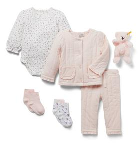 Baby 5-Piece Pink Quilted Gift Box