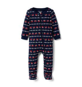 Baby Train Pajama 1-Piece