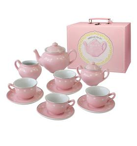 Bright Stripes Porcelain Dot Tea Set