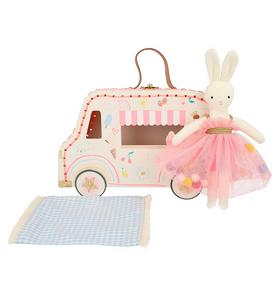 Meri Meri Ice Cream Van Bunny Mini Suitcase Doll