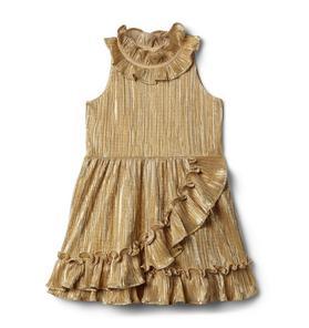 Metallic Plisse Dress