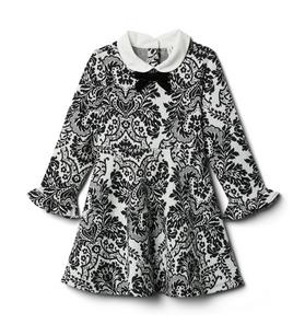 Damask Pattern Dress