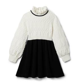 Contrast Textured Sweater Dress