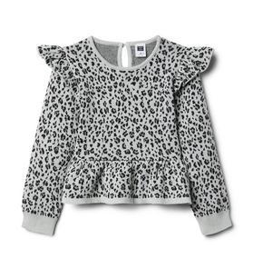 Snow Leopard Peplum Sweater