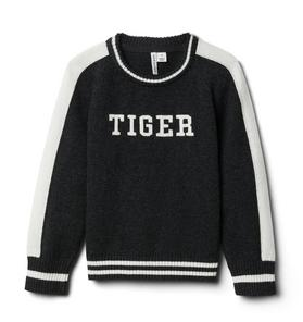 Tiger Raglan Sleeve Sweater