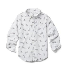 Tiger Print Poplin Shirt