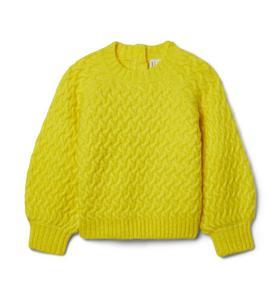 Balloon Sleeve Textured Sweater