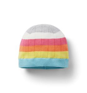 Rainbow Striped Beanie