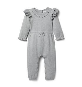 Baby Ruffle Shoulder Sweater 1-Piece