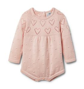 Baby Heart Sweater Romper