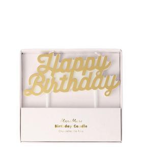 Meri Meri Gold Happy Birthday Candle