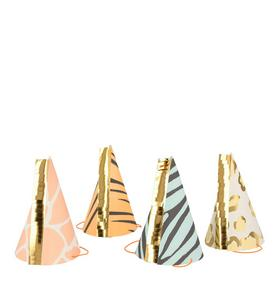 Meri Meri Safari Animal Party Hat Set