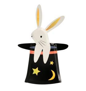 Meri Meri Bunny In Hat Shaped Plate Set