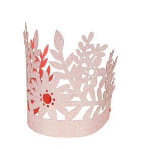 Meri Meri Pink Glitter Party Crown Set