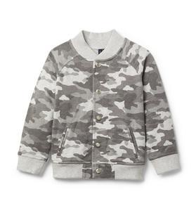 Camo Varsity Jacket