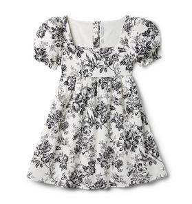 Toile Puff Sleeve Dress