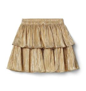 Kimberly Goldson Plisse Tiered Skirt